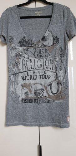 True Religion Camiseta gris-marrón grisáceo