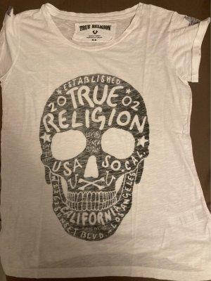 True Religion Print Shirt black-white