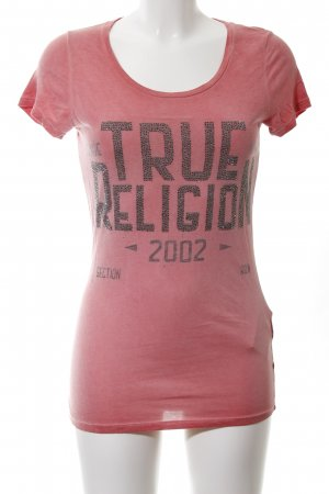 True Religion T-Shirt pink Motivdruck Casual-Look