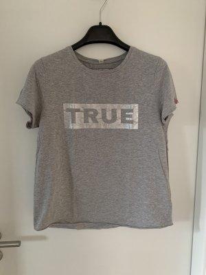 True Religion T-Shirt Grau Silber Logo XL Damen