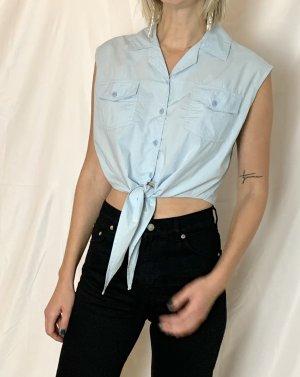True Vintage 100% Baumwolle crop Shirt-Bluse