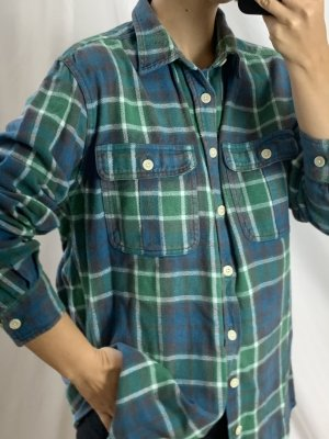 Vintage Flannel Shirt multicolored cotton