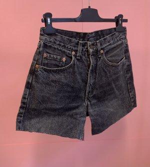 Vintage Pantaloncino di jeans multicolore Cotone