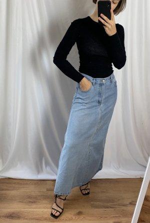 Vintage Gonna di jeans multicolore Cotone