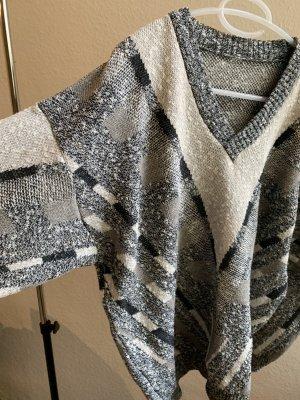 Vintage Maglione oversize multicolore Cotone