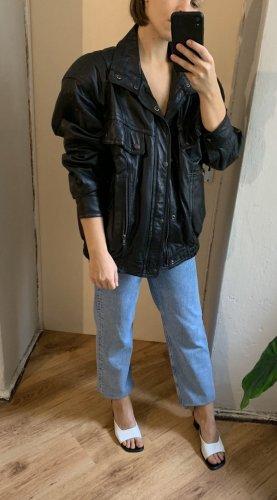 True Vintage 100% Leder-Bomber Jacke