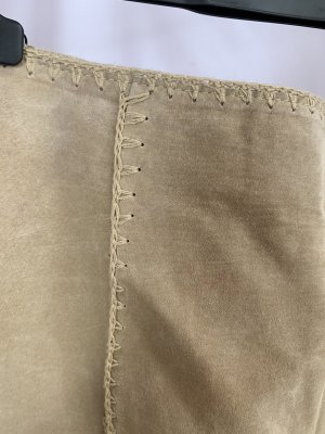 Vintage Jupe en cuir multicolore cuir