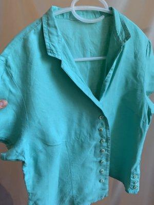 Vintage Blusa in lino multicolore Lino