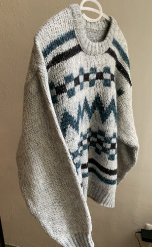 True vintage 100% Wolle Sweatshirt-Pullover