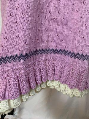 Vintage Wollen jurk veelkleurig Wol