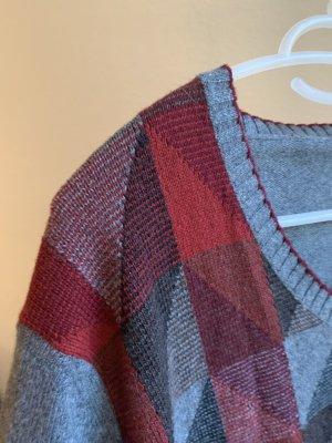 Vintage Pull en laine multicolore laine