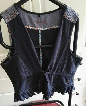 Denim Vest blue cotton