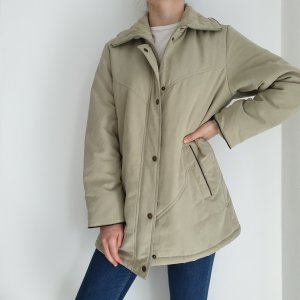 True Vintage 40 beige Jacke parka Mantel Trenchcoat Oversize Pullover Pulli Trench Coat