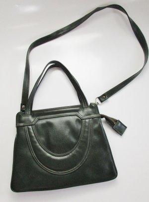 True Vintage 60er 70er Jahre Handtasche  Dunkel Grün Henkeltasche Abendtasche  Bag
