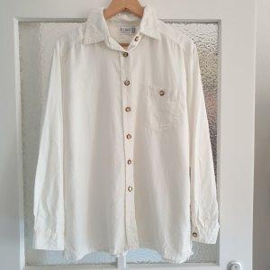 True Vintage 80er 90er Bluse in Creme