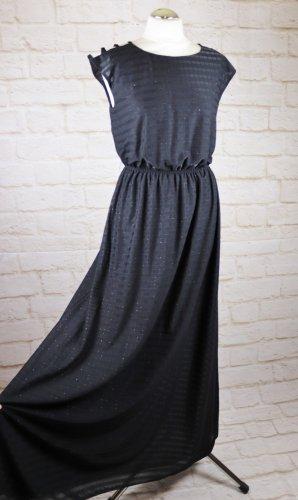 Vintage Maxi Dress black polyester