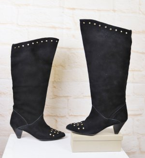 True Vintage Jackboots black-gold-colored leather