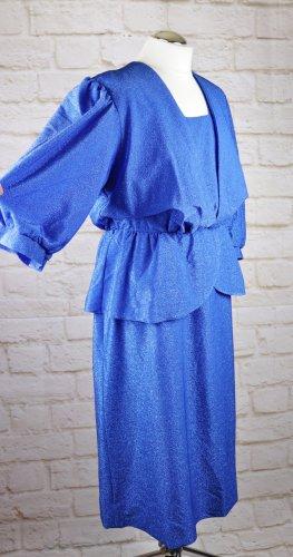 Vintage Vestido peplum multicolor tejido mezclado