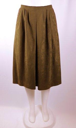Vintage Spódnica midi brązowy Imitacja skóra