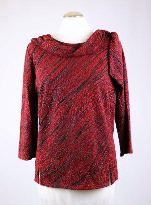 Vintage Camisa con cuello caído multicolor tejido mezclado