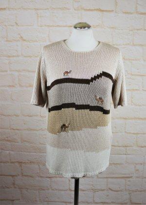 Vintage Short Sleeve Sweater multicolored polyacrylic