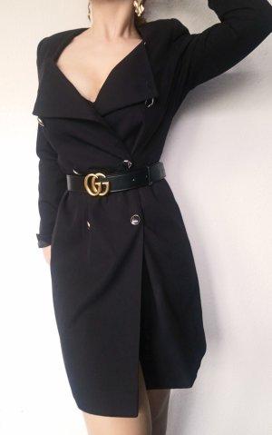 True Vintage 80s Mantel Retro figurbetont Schulterpolster Peacoat Zweireiher Blazerdress Caban