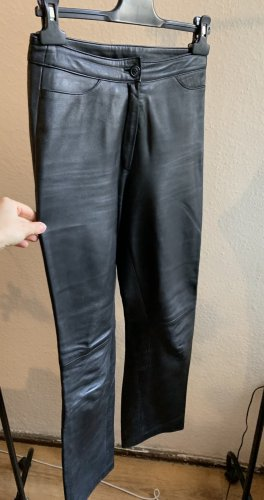 Vintage Pantalone in pelle nero-argento Pelle