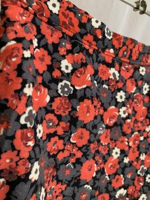 Vintage Falda de talle alto multicolor Viscosa