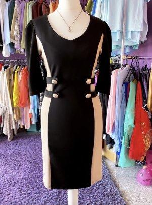 True Vintage Abendkleid Etui Etuikleid kurzes Kleid Mittelgang goldene Knöpfe S