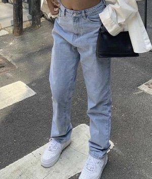 True Vintage Luźne spodnie chabrowy-błękitny