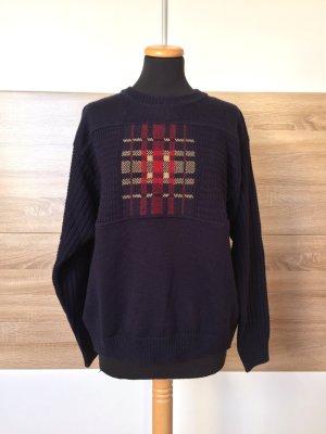 True Vintage blauer Pullover Wolle Strick, Gr. S