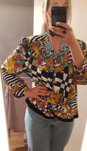true vintage Bluse L 40 Tunika shirt Muster print retro 90er 80er