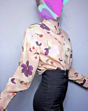True Vintage Bluse mit Schulterpolstern, 80er, 80's, oversized Bluse