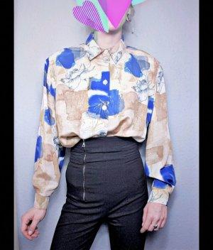 True Vintage Bluse mit Schulterpolstern, 80er Jahre, Vintage