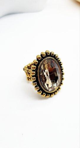 True Vintage,  breiter goldfarbener Damenring,  Einheitsgröße
