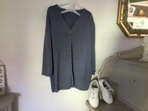 Smanicato lavorato a maglia blu fiordaliso-bianco