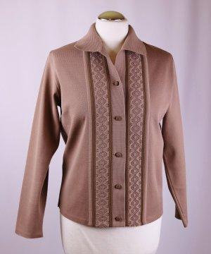 True Vintage Cardigan Jacke Größe 38 * 40 Strick Jersey Trikot Hellbraun Schlamm Polo ripken Diolen Loft Weste Pullover Jumper