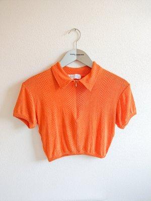 True Vintage T-shirt court orange fluo