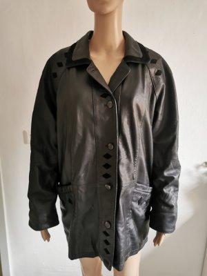 True Vintage Damen Lammnappa Echtleder Jacke Jacket Größe 18 schwarz (46)