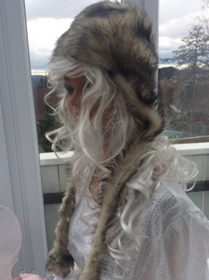 True Vintage Fur Hat silver-colored-light grey