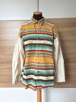 True Vintage gestreiftes Hemd Bluse, leichte Jacke, Gr. S-M-L