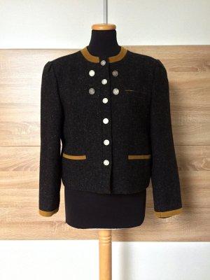 True Vintage grau Wolle Blazer, Jacke Cardigan, Gr. 38 M