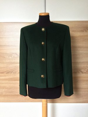 True Vintage grün Wolle Kaschmir Blazer, Jacke Cardigan, Gr. 38 M
