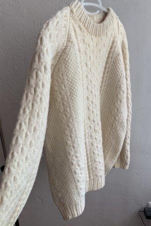 True vintage handmade 100% Wolle Sweatshirt-Pullover