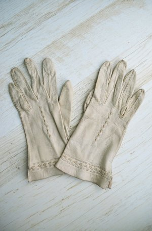 Vintage Leather Gloves multicolored leather