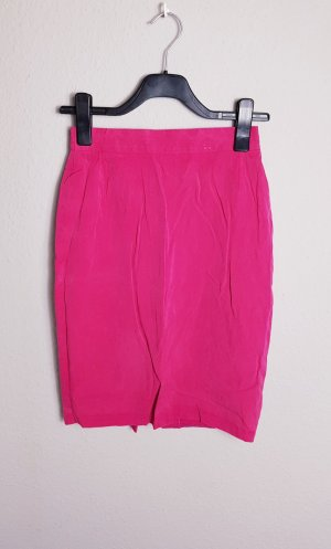 True Vintage high waist Rock, Seide, Pink, Bleistift