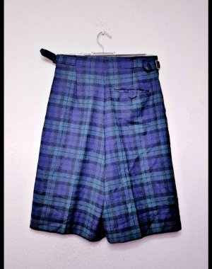 Vintage Jupes-culottes bleu foncé-vert foncé
