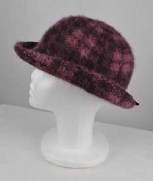Vintage Woolen Hat bordeaux-grey lilac