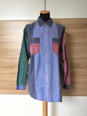 True Vintage Jeans Denim Patch Hemd Bluse, Gr. M