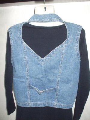 Colours of the World Denim Vest slate-gray cotton